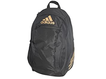 34b3920c2fb15 Amazon.com | Adidas ESTADIO IV BACKPACK - Black/Gold, One Size ...