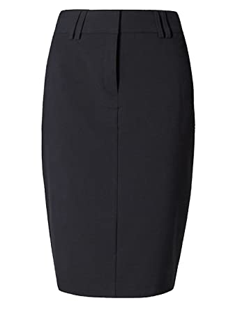 9822997604bcc Ladies   Womens Ex- M S Marks and Spencer Tailored Fit Pencil Skirt Black  (10