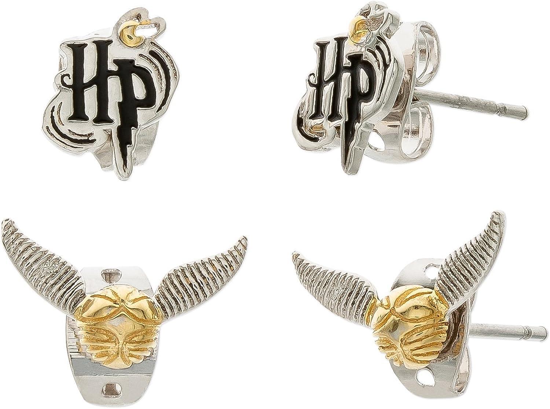 Harry Potter Silver Plated Stud Earrings