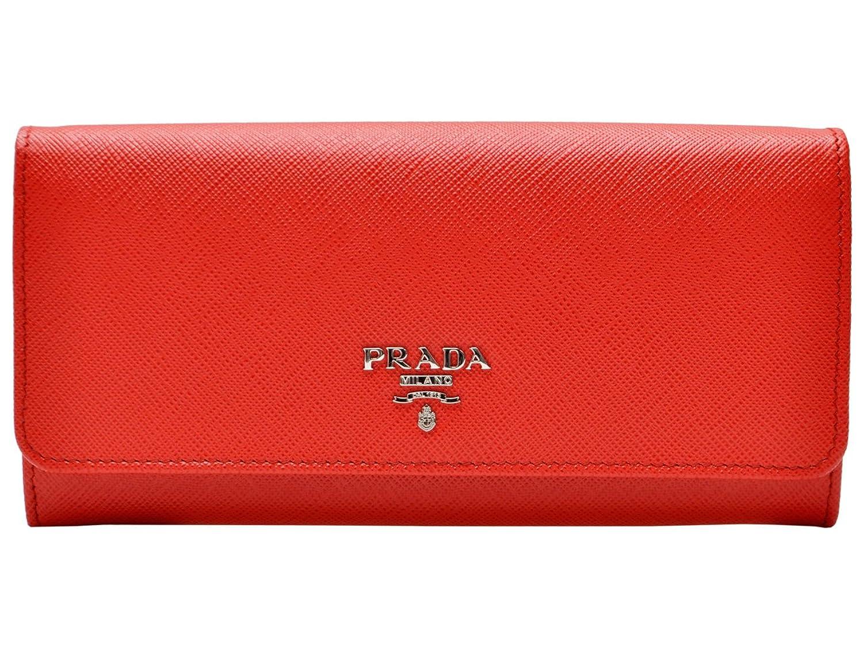 (プラダ) PRADA 財布 長財布 二つ折り パスケース付き ラッカーレッド レザー 1mh132safmet-lac1 ブランド [並行輸入品] B01EFDNNLK