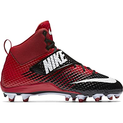 new product 26d1e 7da02 Nike Men s Lunarbeast Pro TD Football Cleat Black University Red White Size  9 M