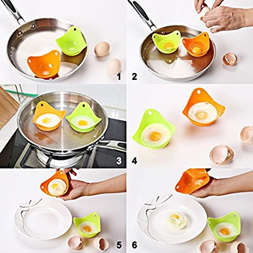 Amazon.com: Recipiente para pochar huevos (4 unidades ...