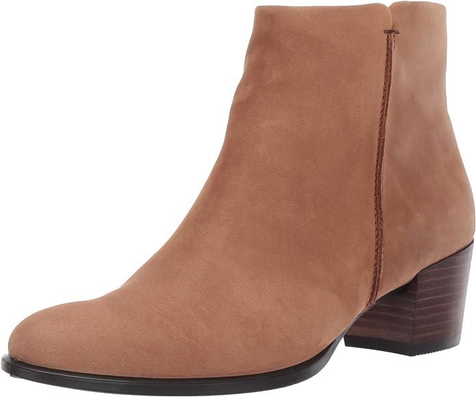 ECCO 型塑短靴,反绒小牛皮鞋面柔软有质感