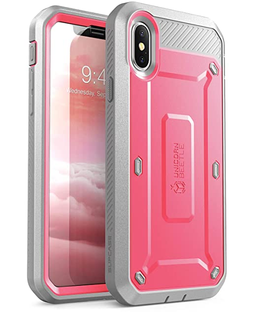 innovative design fc302 18c68 iPhone Xs Case, iPhone X Case, SUPCASE [Unicorn Beetle Pro Series]  Full-Body Rugged Holster Case with Built-in Screen Protector Kickstand for  iPhone X ...
