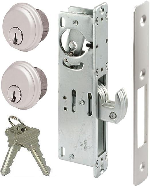 Gancho Deadbolt Mortise puerta cerradura para puertas correderas y puertas de acero o aluminio: Amazon.es: Bricolaje y herramientas