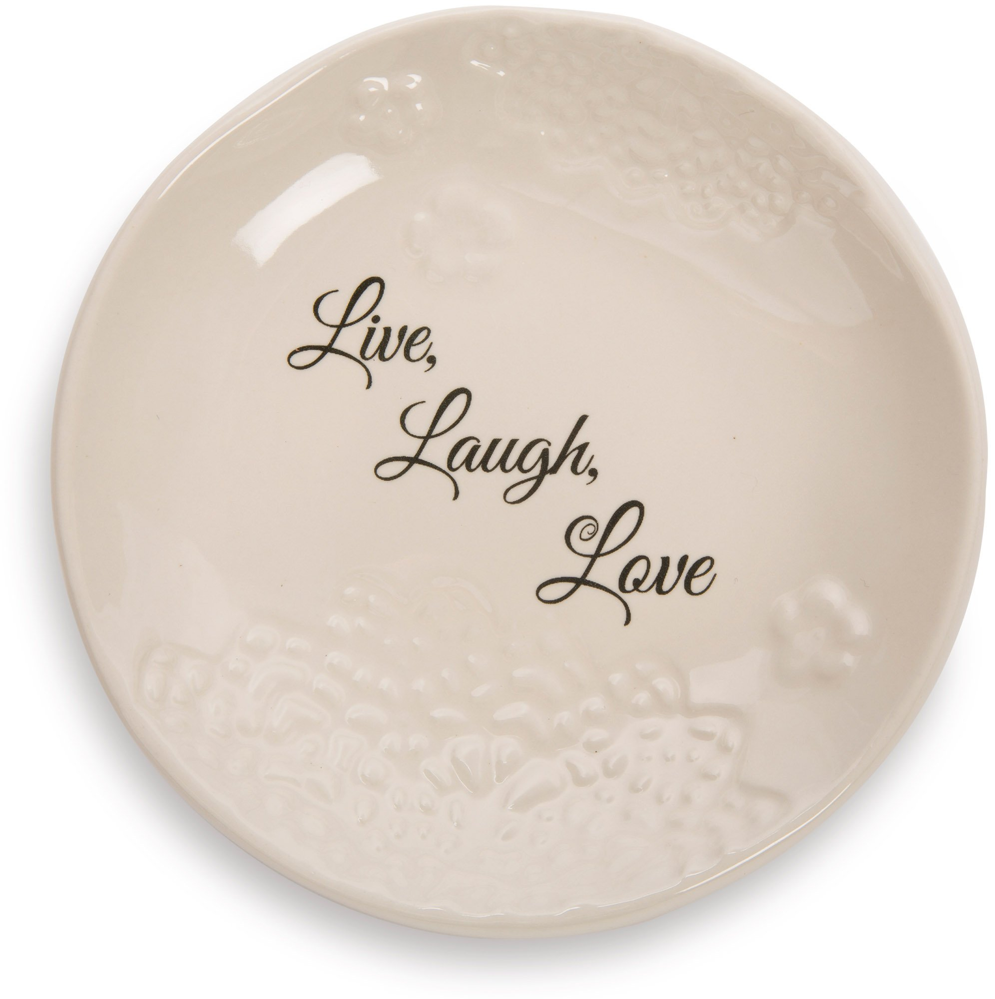 Pavilion Gift Company 19125 Light Your Way Everyday Live Laugh Love Decorative Ceramic Plate, 5''