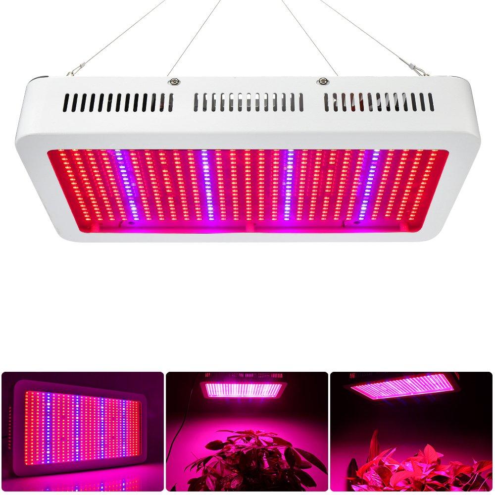 Derlights 600W Full Spectrum High Power Led grow Light, Red Blue ...