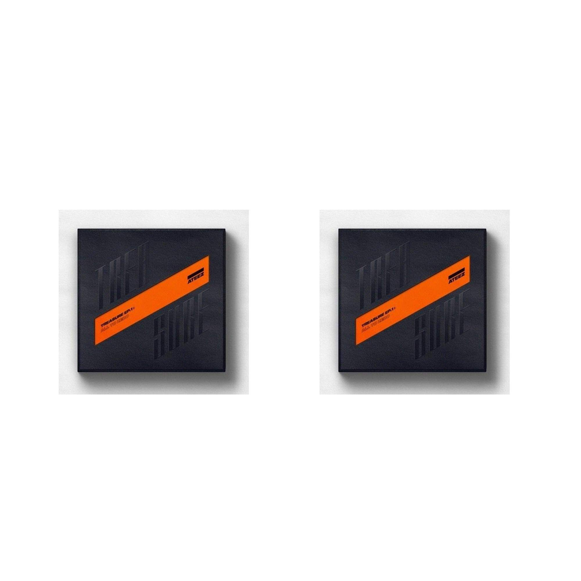 ATEEZ - [Treasure EP.1:All to Zero]1st CD+1p Poster/On+100p Booklet+1p Sticker+8p Post+3p PhotoCard+Tracking (Original Version) by ATEEZ