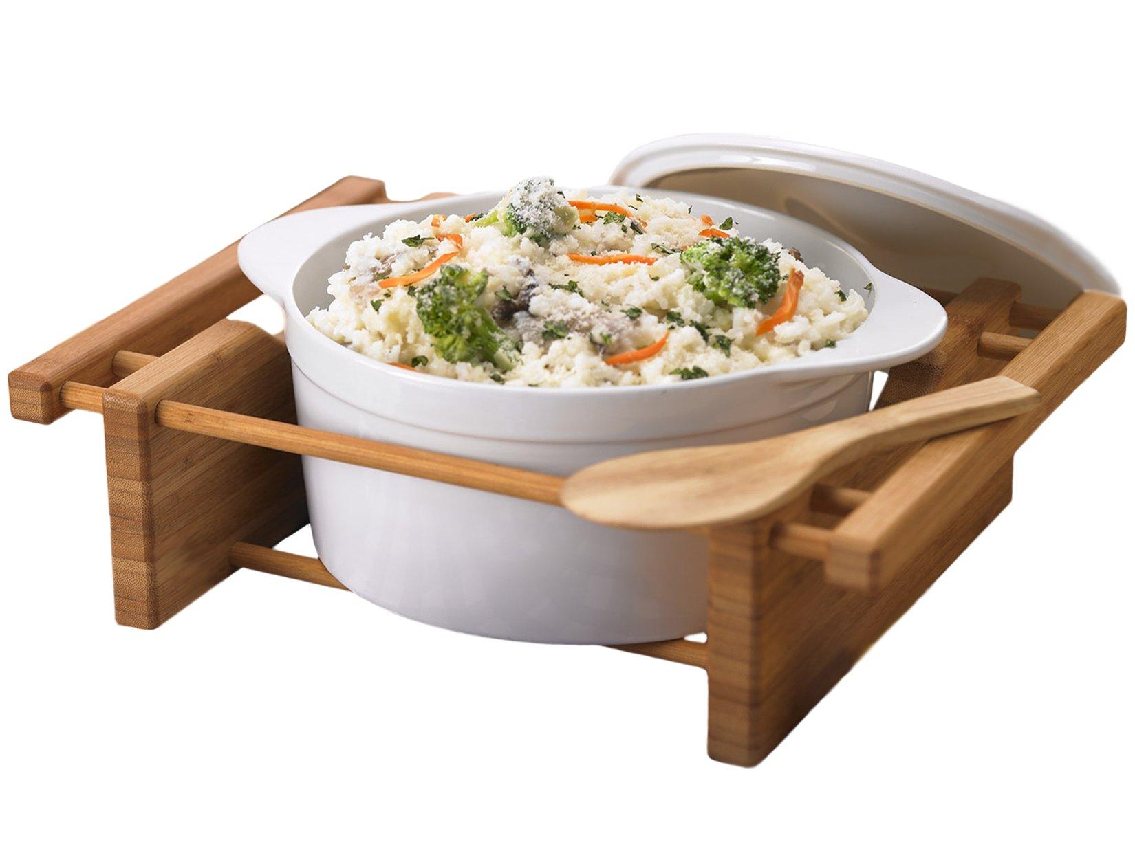 Creative Home 73459 2.5-Quart Grand Buffet Covered Casserole