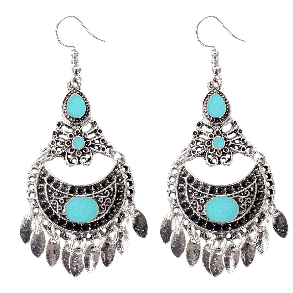Babasee Bohemian Vintage Chandelier Drop Earrings Gypsy Tassel Dangle Hook Earrings