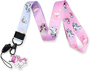 Unicorn Lanyard with id Holder Lanyard Unicorn Kids Keychain Holder