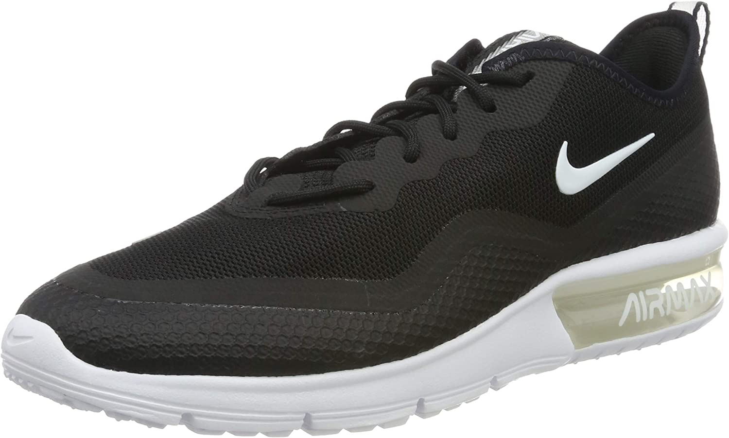 Nike Women's Air Max Sequent 4.5 Running Shoe Black/White Size 9 M US