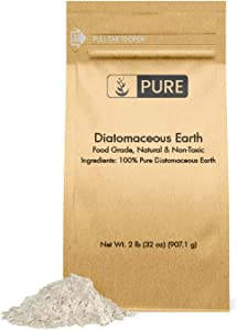 Pure Natural Diatomaceous Earth, 2 lb, Made in USA, Food Grade & FCC Approved, for Health & Home, Freshwater DE, & Purity, No Additives, Eco-Friendly Packaging