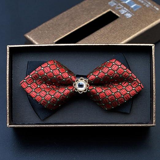 Corbatas YIXINY Pajarita Bowknot Hombres Casado Boda Tuxedo (Color ...
