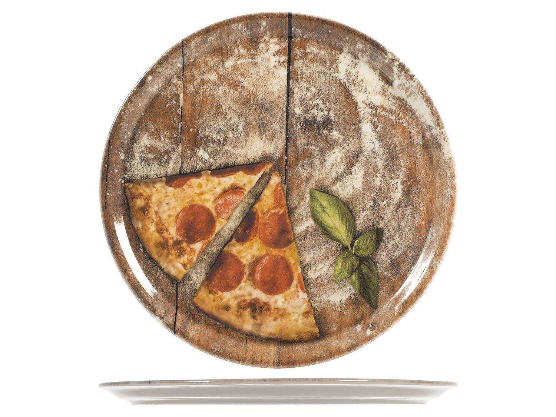 33 Cm Porcellana Assortito SATURNIA Slice Confezione 6 Piatti Pizza