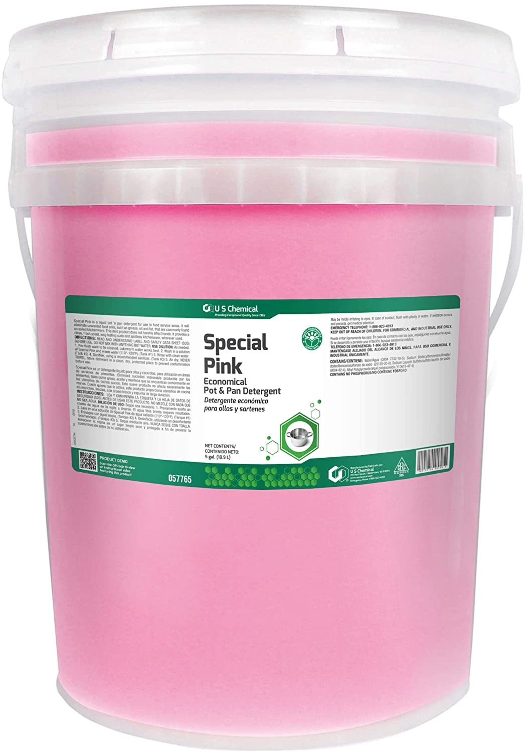 Amazon.com: US Chemical Special Pink Pot and Pan Detergent Liquid, 5 Gallon - 1 each.: Health & Personal Care