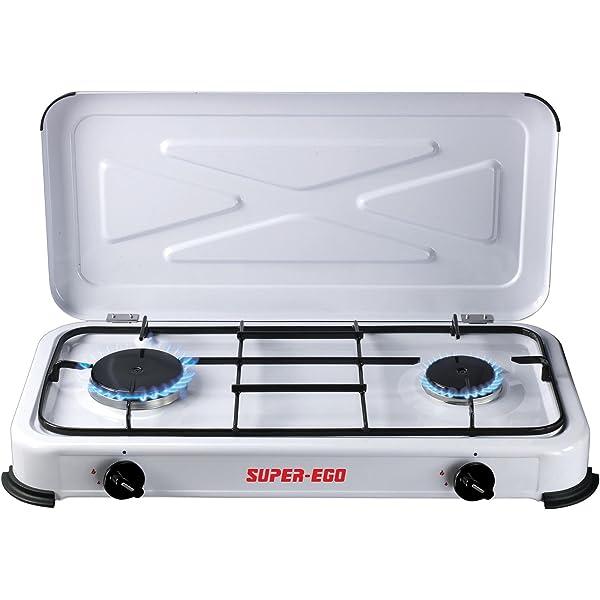 SUPER EGO SEH024800 Cocina gas portátil, Blanco ...