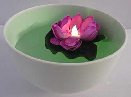 Buy artificial floating lotus flowers with led candle set of 2 artificial floating lotus flowers with led candle set of 2 great for festival mightylinksfo