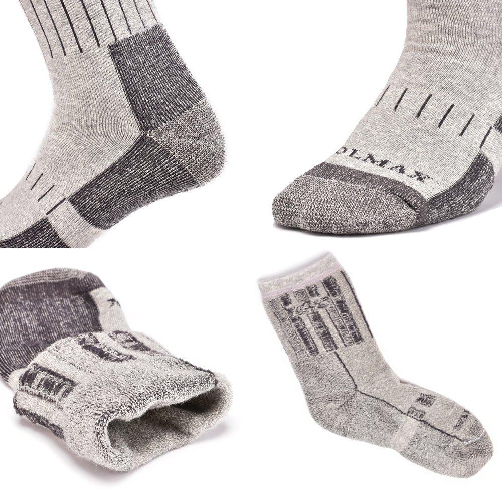 SUDILO Crew Cushion Hiking Trekking Socks,Coolmax Multi Performance Antiskid Wicking Outdoor Athletic Socks by SUDILO (Image #5)
