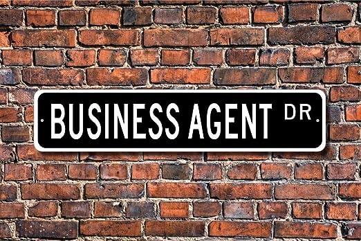 HNNT - Cartel de Metal con Texto en inglés Business Agent ...