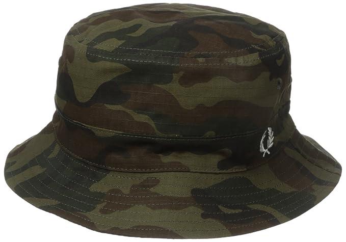 c4711daa1 Fred Perry Men's Ripstop Reversible Bucket Hat, Camo/Black, Small ...