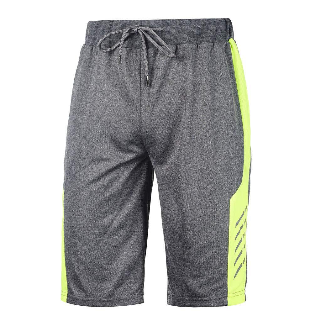 NUWFOR Men's Swimwear Running Surfing Sports Plus Size Beach Shorts Trunks Board Pants L Waist:28.7''