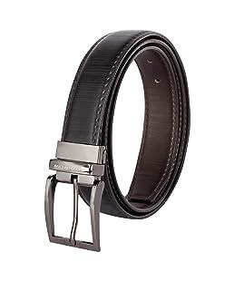 SPAIROW Men's Faux Leather Reversible Belt (PBL-13) Black: Brown