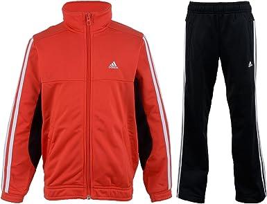 adidas Tiberio poliéster Chándal Junior, Color - Red - Black - White ...