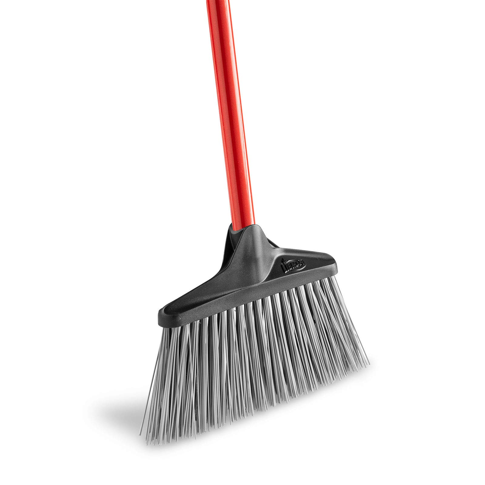 Libman Commercial 1086 Stiff Sweep Lobby Broom, Steel Handle, 38'' Tall x 10'' Wide, Red Handle (Pack of 6) by Libman Commercial