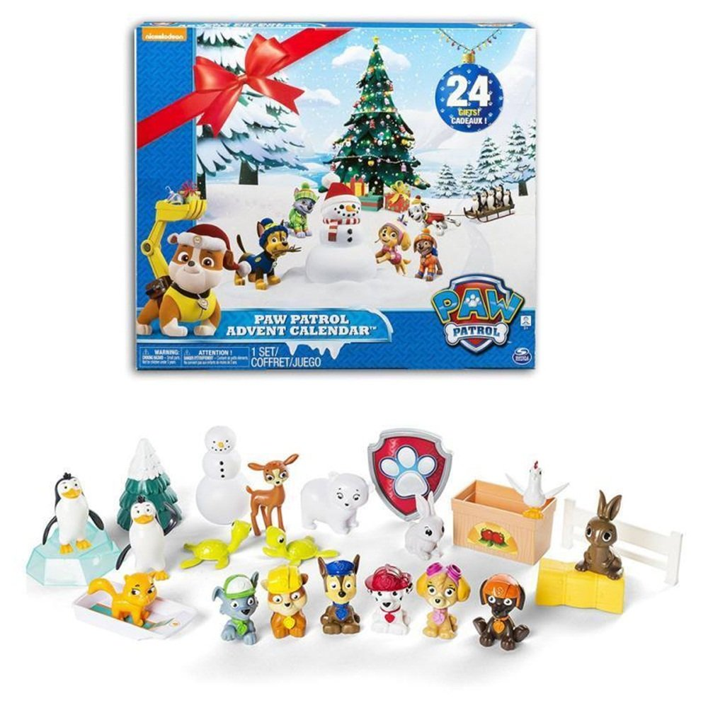 ld christmas decoration spinmaster paw patrol boys christmas calender with toy 3 7 days delivery time amazoncouk garden outdoors