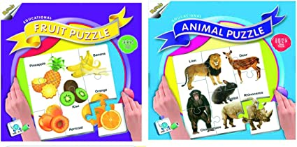 Ratnas Fruit and Animal Puzzle - (88 Pieces)