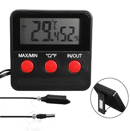 Tuto Digital Termómetro Higrómetro Medidor De Humedad Sonda Para Incubadora De Huevos Pet