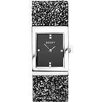 Seksy Rocks® Collection Rectangular Dial Swarovski® Stone Set Bracelet Ladies Watch