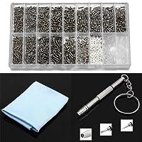 1000pezzi piccoli riparazione viti dado assortimento Tool kit per occhiali/orologio/occhiali/occhiali da sole