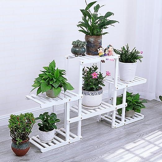 Sillas FL Pergolas/Flor Estante de Madera Maciza Flor Soporte suculentas Multi-Historia balcón Interior Suelo salón Flor Estante Expositor Soportes: Amazon.es: Jardín