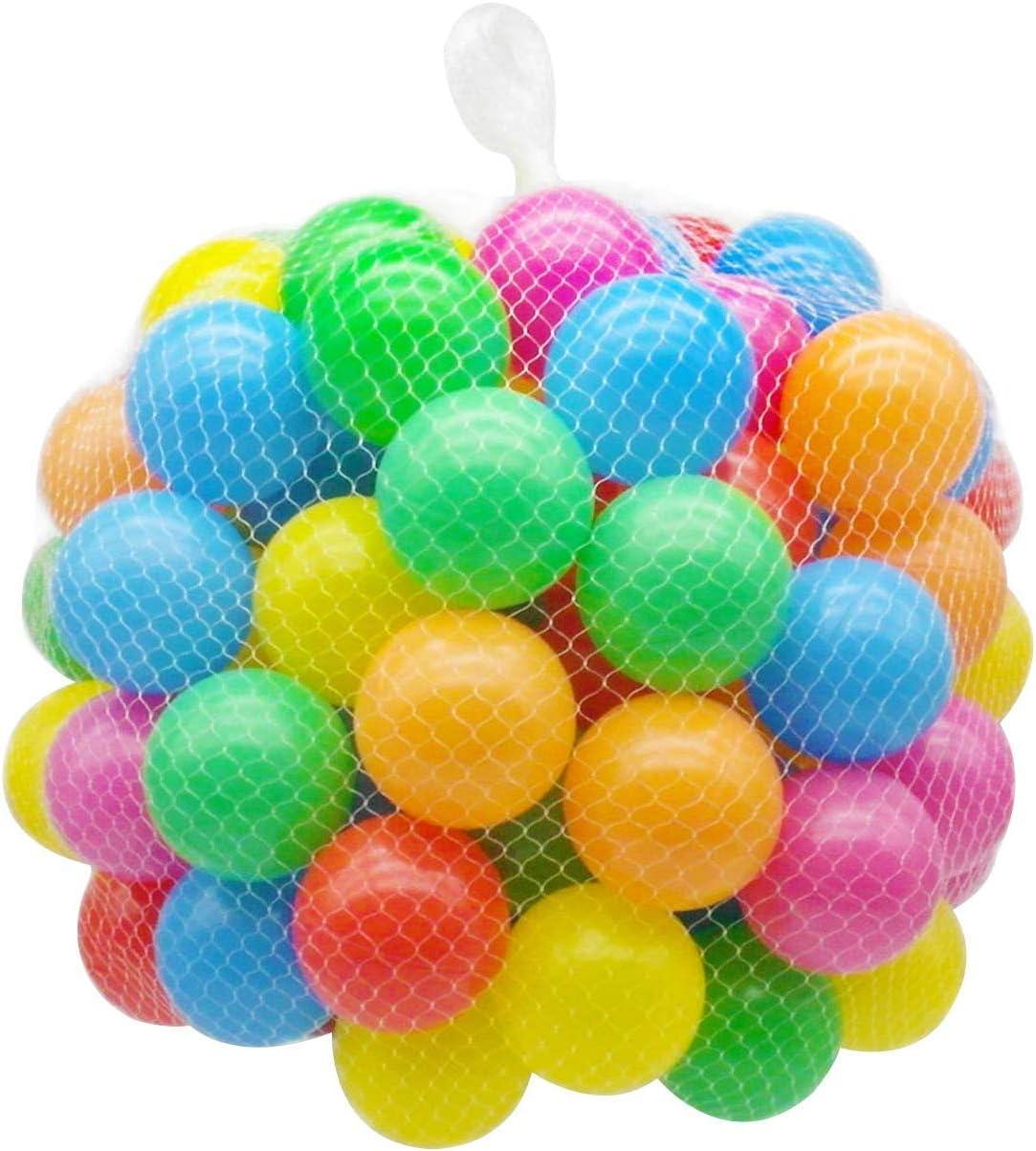 BriskyM 100pcs Bolas de Colores, Plástico Blando no tóxico, Libre de ftalato, a Prueba de aplastamiento, Bolas de Pit, bebé, Juguetes para niños, Juguetes para Nadar