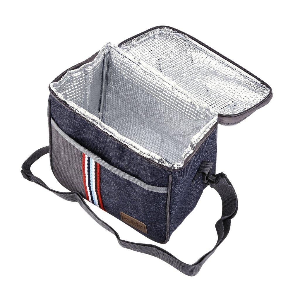Thermische Isolierte Lunch Bag tragbare auslaufsichere Lunch Tote Bag Camping Reise Picknick Lunch K/ühltasche Mahlzeit Prep Bag Bento Box Mittagessen Tote f/ür Erwachsene Kinder Frauen M/änner