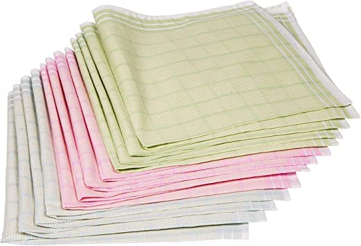 Soft Cotton Premium Collection 6 or 12 Pack Mens Handkerchiefs 100/% Cotton by S4S