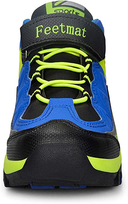 ZOCAVIA Boys Shoes Athletic Hiking Walking Sneakers Kids Black Blue Size 3.5 M US Big Kid
