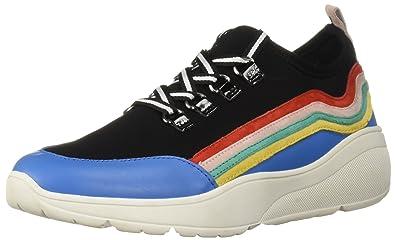 717c8ac3e5d Steve Madden Women s CAVO Sneaker Black Multi 6 M US