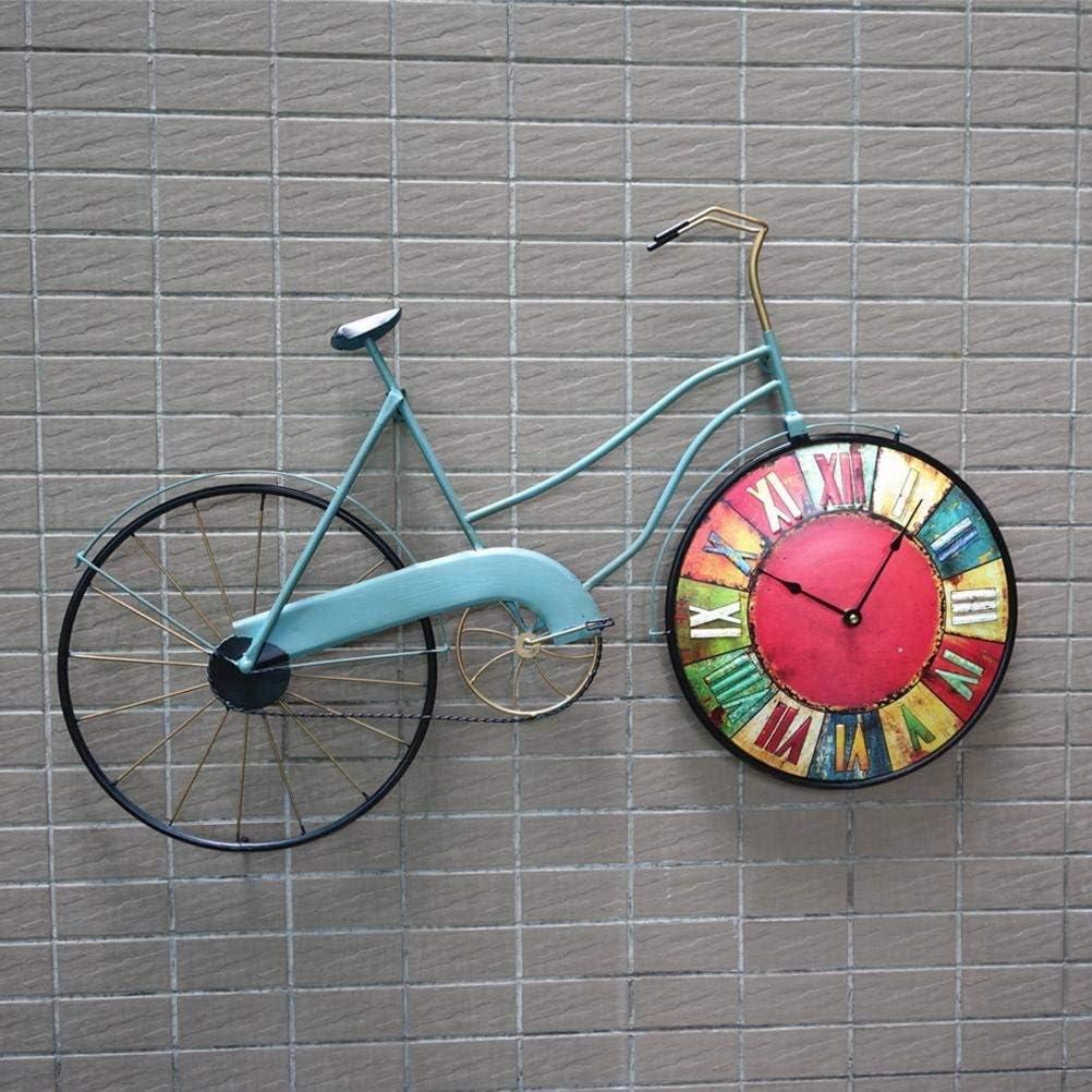 WYFCC Vintage Americanas Bikes Hierro Decorativa Pared Reloj ...