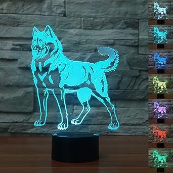 Beautiful 3D Der Hund Optische Illusions Lampen, Tolle 7 Farbwechsel Acryl Berühren  Tabelle Schreibtisch