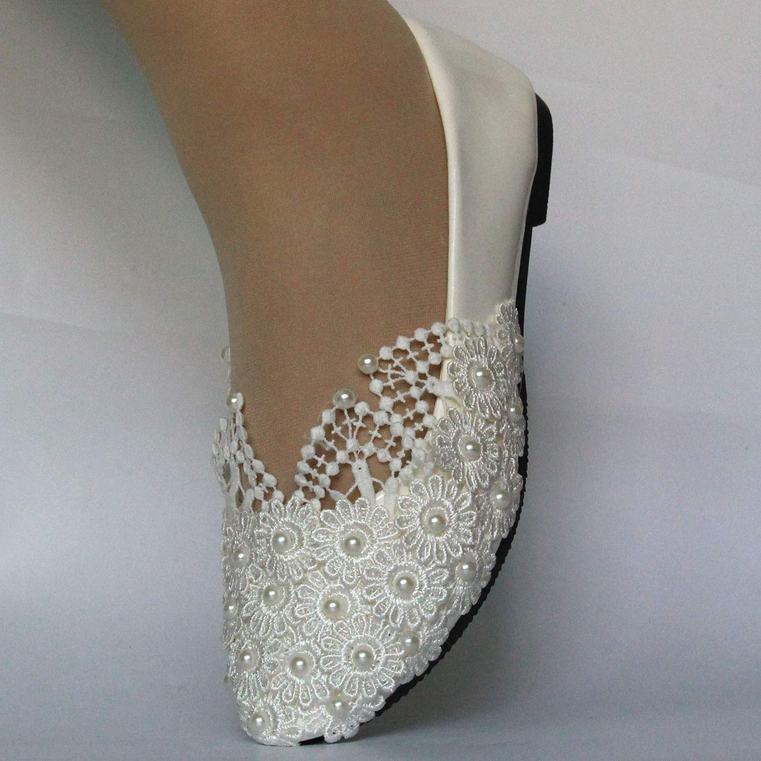 Amazon.com: Flat Wedding Shoes Bridal Low Heels Shoes Women Pumps