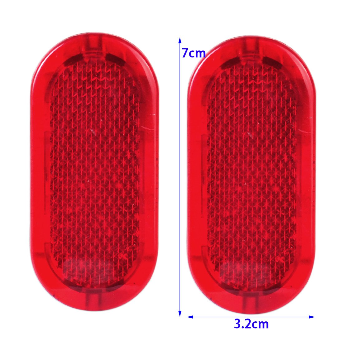 beler 2X Red Door Panel Warning Light Reflector 6Q0947419 Fit for VW Beetle Caddy Polo