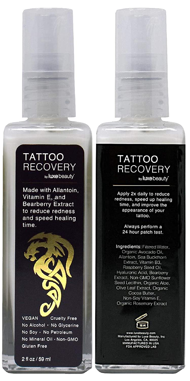 Luxe Beauty: Tattoo Recovery & Brightening Cream - Revitalize Your Tattoos - 2 fl oz - Non-Toxic Formula - Assists In Improving Appearance Of Old Tattoos - Helps Heal New Tattoos