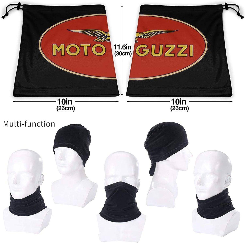 ELIENONO Moto Guzzi Unisex Scaldacollo in microfibra antivento antipolvere protezione UV collo sciarpa