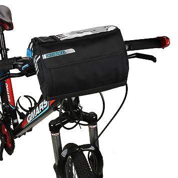 Spalyer Bolsa Alforja Estranca para Manillar de Bicicleta con Correa de  Hombro fa9896ac371