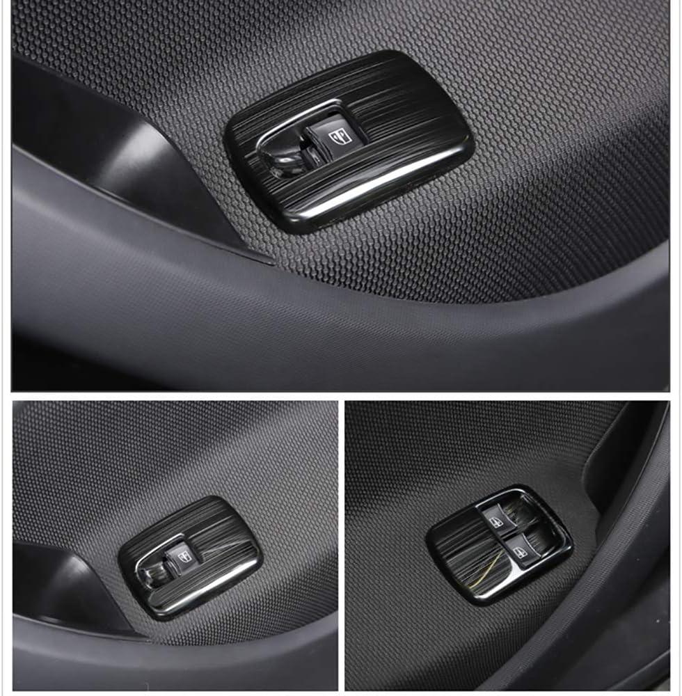 FSXTLLL 2 st/ücke Auto armlehne t/ür und Fenster Glas Schalter Panel Dekoration Rahmen f/ür smart f/ür Zwei 453 2018 Neue Auto zubeh/ör /änderung