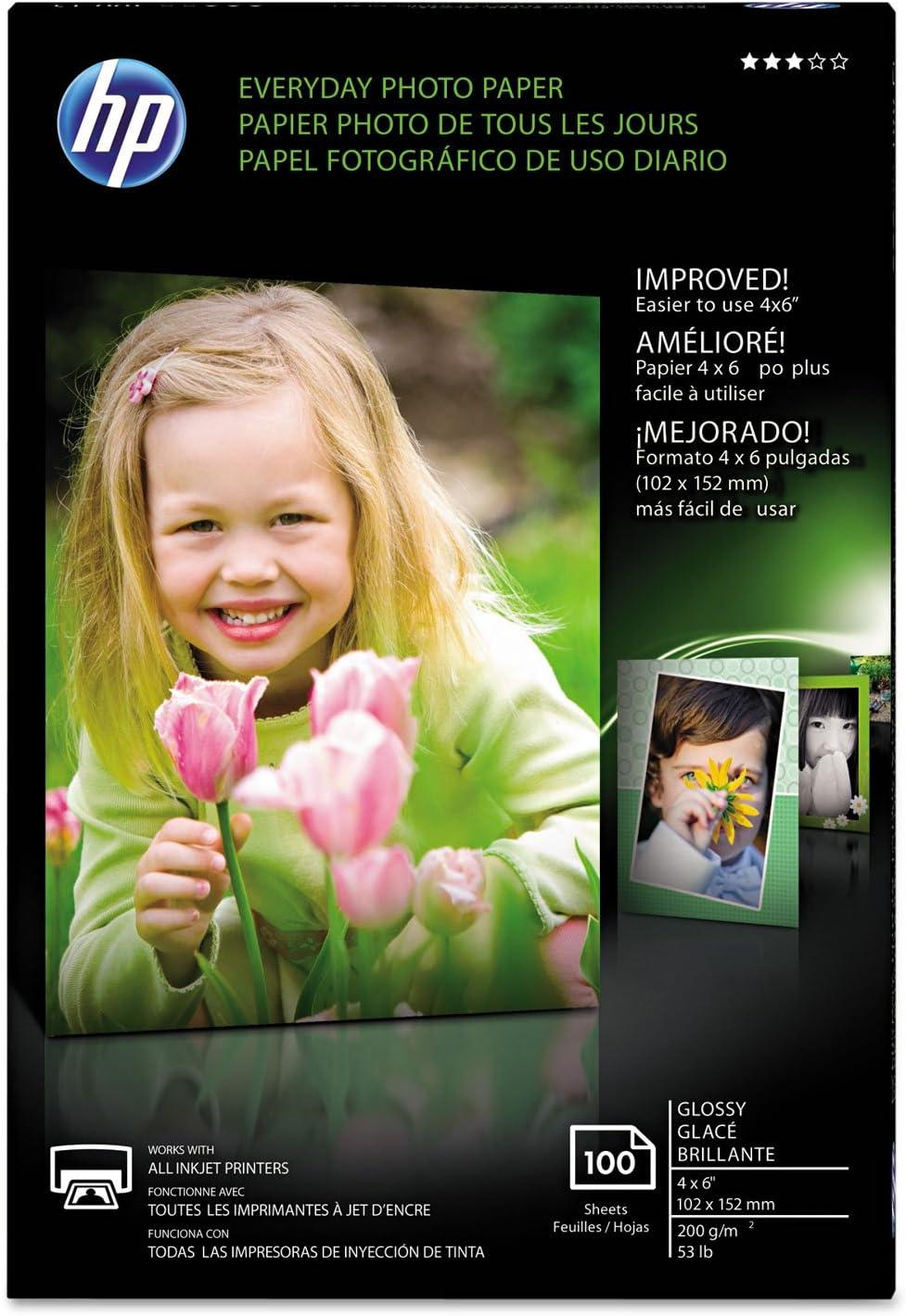 "HP CR759A HP Photo Paper, 4""x6"", 100Sht/PK, Glossy/White"