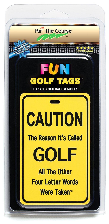 楽しいゴルフタグ、ライト反射タグ4 Luggageバッグ、ゴルフバッグ、バックパック/ギフト   B077DFXVZP